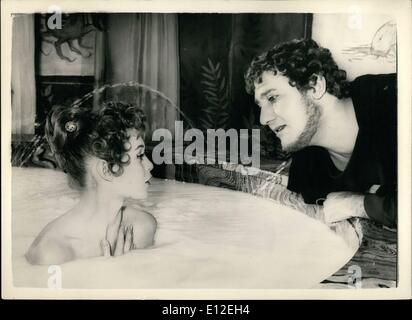 Dec. 16, 2011 - Brigitte Bardot has a bath - in 400 liters of milk watched by ''Nero'' - for new film : The french - Stock Photo