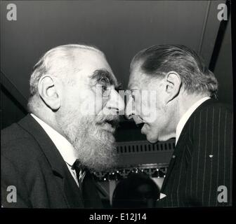 Jan. 09, 2012 - ''How did you make your last Million?'': A nose to nose study of two of the world's richest men - Stock Photo
