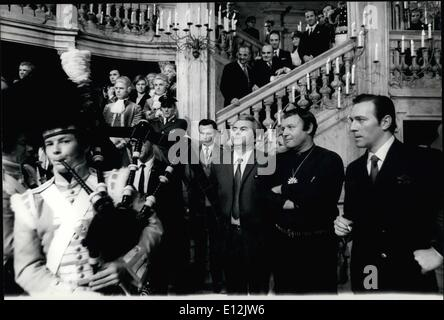 Feb. 24, 2012 - At the occasion of the beginning of the film ''Waterloo'' a great reception was held at the De Laurentiis - Stock Photo