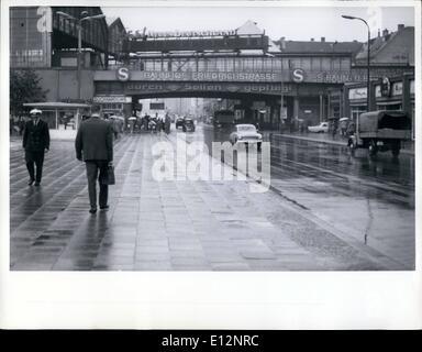 Feb. 24, 2012 - East Berlin 1966 Friedrichstrasse RR Station. - Stock Photo
