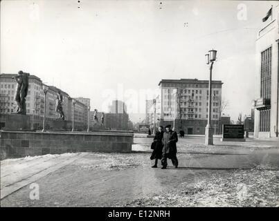 Feb. 24, 2012 - ( Frame slalinallee) East Berlin Karl Marx Allee - Stock Photo