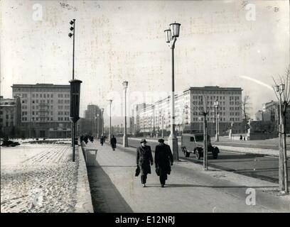 Feb. 24, 2012 - East Berlin Karl Marx Allee Former slalinallee - Stock Photo