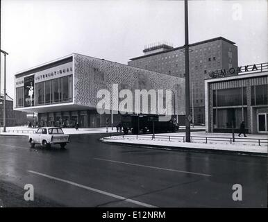 Feb. 24, 2012 - ''King International'' Movie Theater - Most Modern - At Karl Marx Allee, East Berlin. - Stock Photo