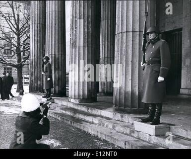 Feb. 24, 2012 - East Berlin the guard at the memorial for the victims of fascism & militarism. - Stock Photo