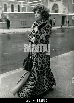 Feb. 24, 2012 - New York City - Gina Lollobrigida, here for private photographic assignment (she does a good deal - Stock Photo