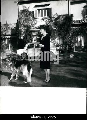 Feb. 24, 2012 - Actress Gina Lollobrigida (Photo from file) is seen in front of his villa long the ancient via Appia. - Stock Photo
