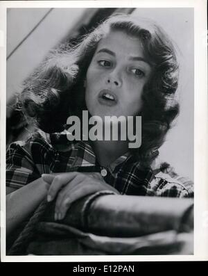 Feb. 24, 2012 - The simple beauty of Pier Angeli, star of ''Teresa'', give her an appeal for everyone. She is a - Stock Photo