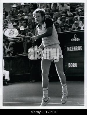 Feb. 24, 2012 - John McEnroe wins the United States open tennis tournament - Stock Photo