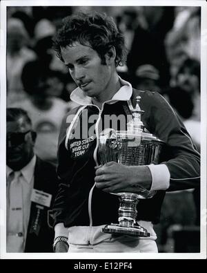 Feb. 24, 2012 - John McEnroe wins the United States opens. - Stock Photo