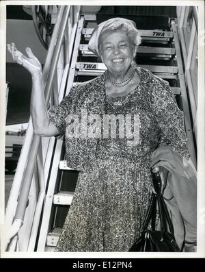Feb. 24, 2012 - N.Y.International Airport, Sept. 26: the former first lady, Mrs. Eleanor Roosevelt is pictured prior - Stock Photo