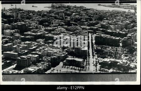 Feb. 24, 2012 - Aerial View Of Port Said - Taken 17th. November 1956: Port Said from the North West looking towards - Stock Photo