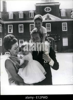 Feb. 24, 2012 - A new picture of Princess Margaret, the Earl of Snowdon and their children: A happy study of H.R.H. - Stock Photo