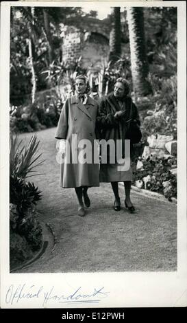 Feb. 24, 2012 - Her Serene Highness, the Princess Grace of Monaco, and her mother, Mrs. John B. Kelly, walk and - Stock Photo
