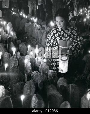 Feb. 25, 2012 - Unknown dead remembered. Japanese pay hommage to 8,000 unknown persons buried in the cemetery of - Stock Photo