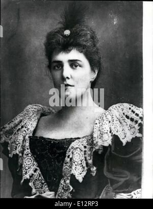 Feb. 24, 2012 - Photo shows Lady Randolph Churchill, daughter of Leonard Jerome of New York - wife of Lord Randolph - Stock Photo