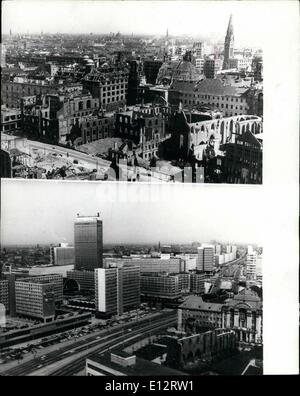 Feb. 25, 2012 - July 1979 East Berlin, then and now. These two pictures tell the tale of East Berlin in the grim - Stock Photo