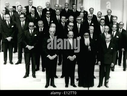 Feb. 25, 2012 - President George Paposognonlo , Vice President Odyssefs Aughelis, Premier Spyros markeziuis and - Stock Photo