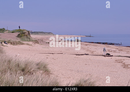 Caister beach, north-east Norfolk, Uk - Stock Photo