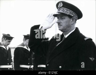 Feb. 25, 2012 - French rear admiral Philippe De Gaulle on visit in Hamburg: The commander of the French Atlantic - Stock Photo