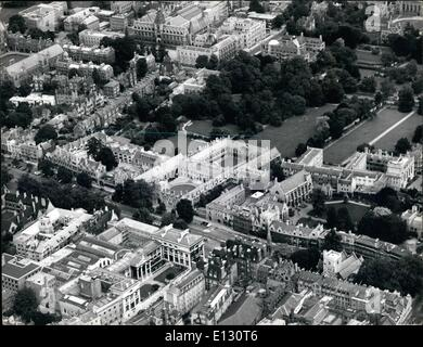 Feb. 26, 2012 - Oxford the air: City dreaming spires! But from , a bird's eye view of the ancient university is - Stock Photo