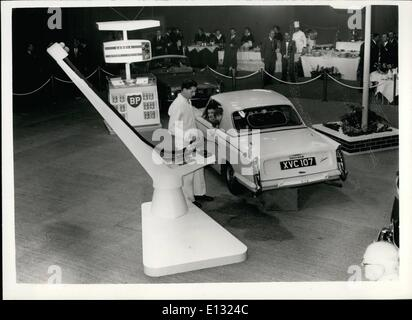 Feb. 26, 2012 - Introducing the ''autovista' new type of Automatic fuel dispenser by b.p. A revolutionary new system - Stock Photo