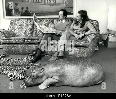 Feb. 26, 2012 - A hippo in the house. Most women will put up with their children bringin home strange faces and - Stock Photo
