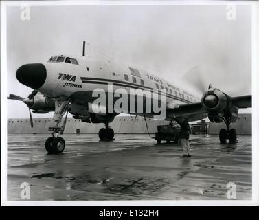 Feb. 26, 2012 - Idlewild Airport, N.Y., ---- TWA maintenance foreman Anthony Falco, of 2053 West 8 St., Brooklyn, - Stock Photo