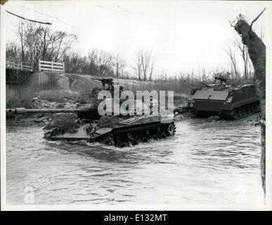 Feb. 26, 2012 - Men of the Second Armored Cavalry - An M-41 Tank and an M-59 armored personnel carrier of the Second - Stock Photo