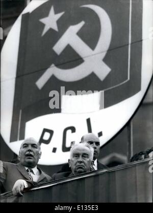Feb. 28, 2012 - The Italian Communist party closed the Electoral campaign with a meeting in St. John Square. The - Stock Photo