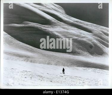 Feb. 28, 2012 - Lofty Grandeur and unexcelled powder show of slopes such as this one at Mt. Alyeska near Anchorage - Stock Photo