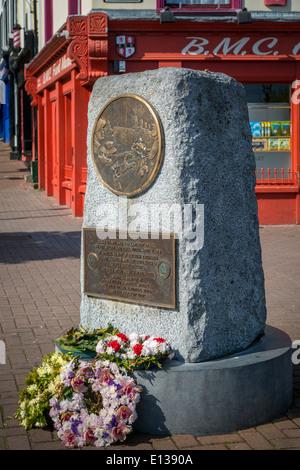 Titanic Memorial along the wharf in Cobh - Titanic's last port of call, County Cork, Ireland - Stock Photo