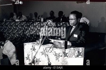 Feb. 29, 2012 - Extraordinary meeting of OAU Council of Minister, Dar Es Salaam, Tanzania. Bishop Abel Muzorewa, - Stock Photo