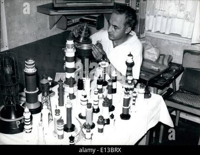 Feb. 29, 2012 - Lighthouse of various types. are the hobby of Frankfurt mechanic Willy Pyck. From photographs and - Stock Photo