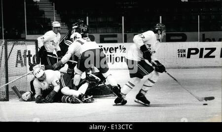 Mar. 02, 2012 - World Championship in Ice Hockey, Stockholm 1970, Finland-Poland result: 4-0 After the defeat against - Stock Photo
