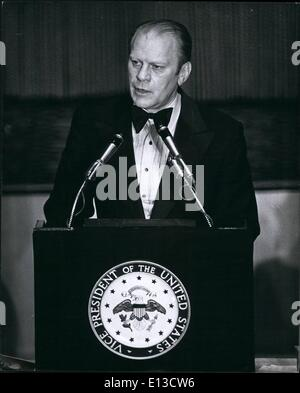 Feb. 29, 2012 - 38th President of the United States Gerald Ford In Newark, NJ. APRESS. - Stock Photo