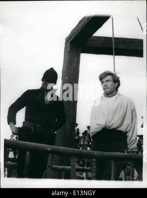 Mar. 22, 2012 - Well, I'm hanged ! : They hanged 1962's brightest star yesterday: Albert Finney, to the Tyburn of - Stock Photo