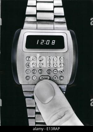 Mar. 22, 2012 - A very extraordinary watch: Especially business men will be delighted with this novel watch, which - Stock Photo