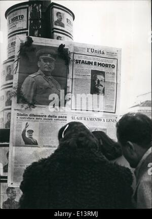 Mar. 27, 2012 - Milan, the most Communist Town in Europe, pays a tribute of homage to the memory of the late Joseph - Stock Photo