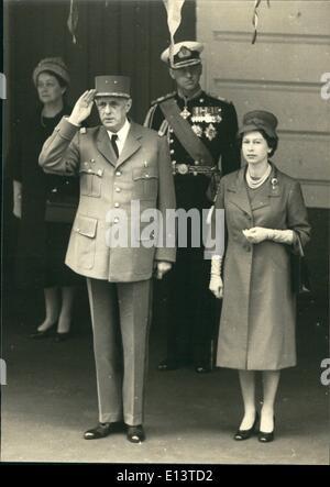 Mar. 27, 2012 - General De Gaulle & Queen Elizabeth - Stock Photo