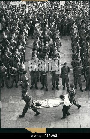 Mar. 27, 2012 - General de Gaulle was giving a speech in Algeria. Parisian Designer Torrente's Spring Collection - Stock Photo