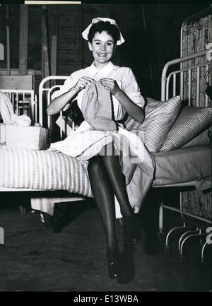 Mar. 27, 2012 - ''Knitting in the War Nurse.: Probationers are never supposed to have time to knit: but this one - Stock Photo