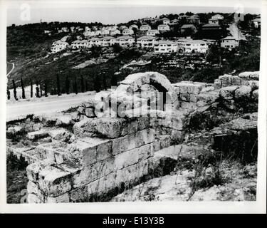 Mar. 27, 2012 - Ancient Relics discovered at Excavations of Beit Shrearim in the Lower Galilee; Beit Shearim, situated - Stock Photo