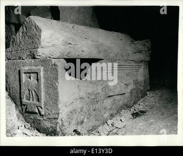 Mar. 27, 2012 - Ancient Relics discovered at Excavations of Beit Shearim in the Lower Galilee; Beit Shearim, situated - Stock Photo