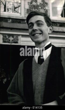 Mar. 31, 2012 - Britain's Oldest Public School The Captain of King's Canterbury: Roger Symon, the Captain of the - Stock Photo