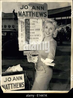 Apr. 04, 2012 - Photo Shows: Jo Ann Matthews the blonde bookmaker. - Stock Photo