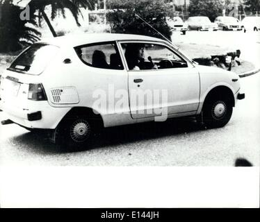 Apr. 04, 2012 - Photo shows A small car run on a mixture of eucalyptus oil (70%) and patrol (30%). The car can travel - Stock Photo