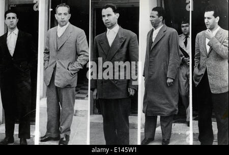 FILE - Ahmed Ben Bella, (December 25, 1918 - April 11, 2012) who was a key member in the Algerian revolution and - Stock Photo