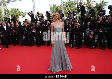 Rosie Huntington-Whiteley attends the premiere of «The Search» during the 67th Cannes International Film Festival - Stock Photo