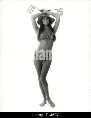 Apr. 17, 2012 - Green-eyed, brown-haired Marilyn Cole, Playboy's Playmate of the year for 1973, is 5'8'' weighs - Stock Photo