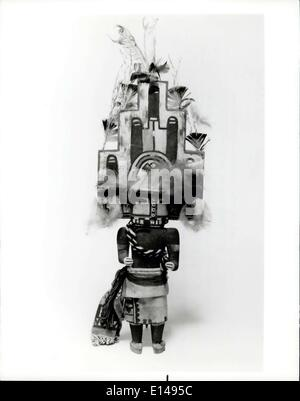 Apr. 17, 2012 - Art Of The First Americans: Kachina doll of the Hopi tribe in the Southwest in an educational toy. - Stock Photo